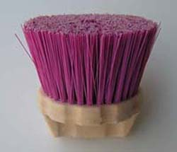Round Scalloped Plastic Block  Brush