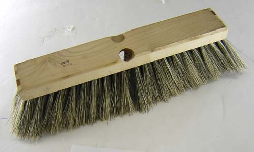 "14"" Wood Block Body Brush. 2 Tapered Handle Holes"